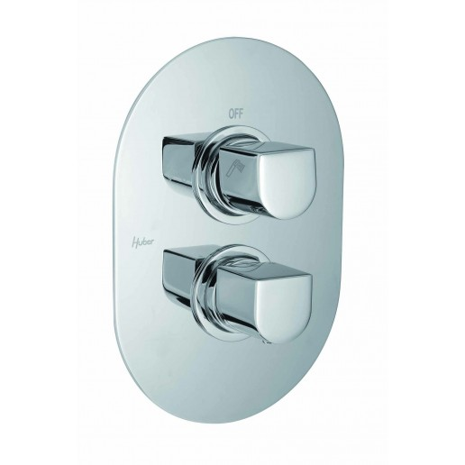 mitigeur thermostatique encastr 2 sorties huber gamme icon livraison offerte. Black Bedroom Furniture Sets. Home Design Ideas