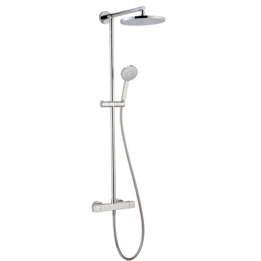Ensemble Thermostatique Douche Mural 2 Fonctions - Safe touch Huber gamme Dado