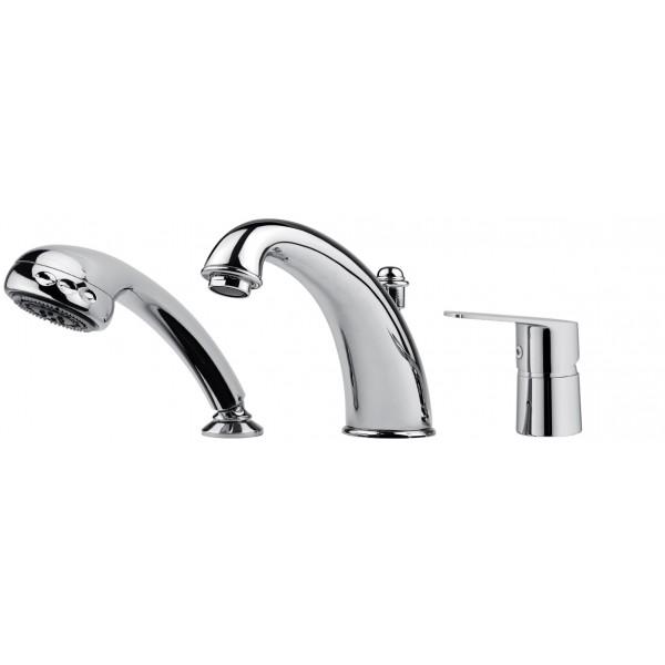 Mitigeur bain douche 3 trous sur gorge ottone meloda gamme - Robinetterie sur gorge pour baignoire ...