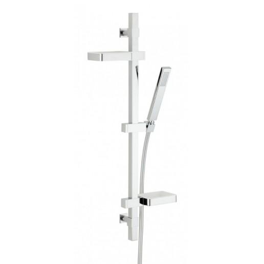 Ensemble barre Valentin gamme Touareg 1 jet avec tablettes porte-objets